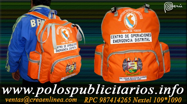 Mochilas Defensa Civil